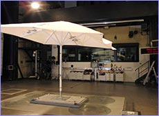 StrongWind Umbrellas In Wind Tunnel
